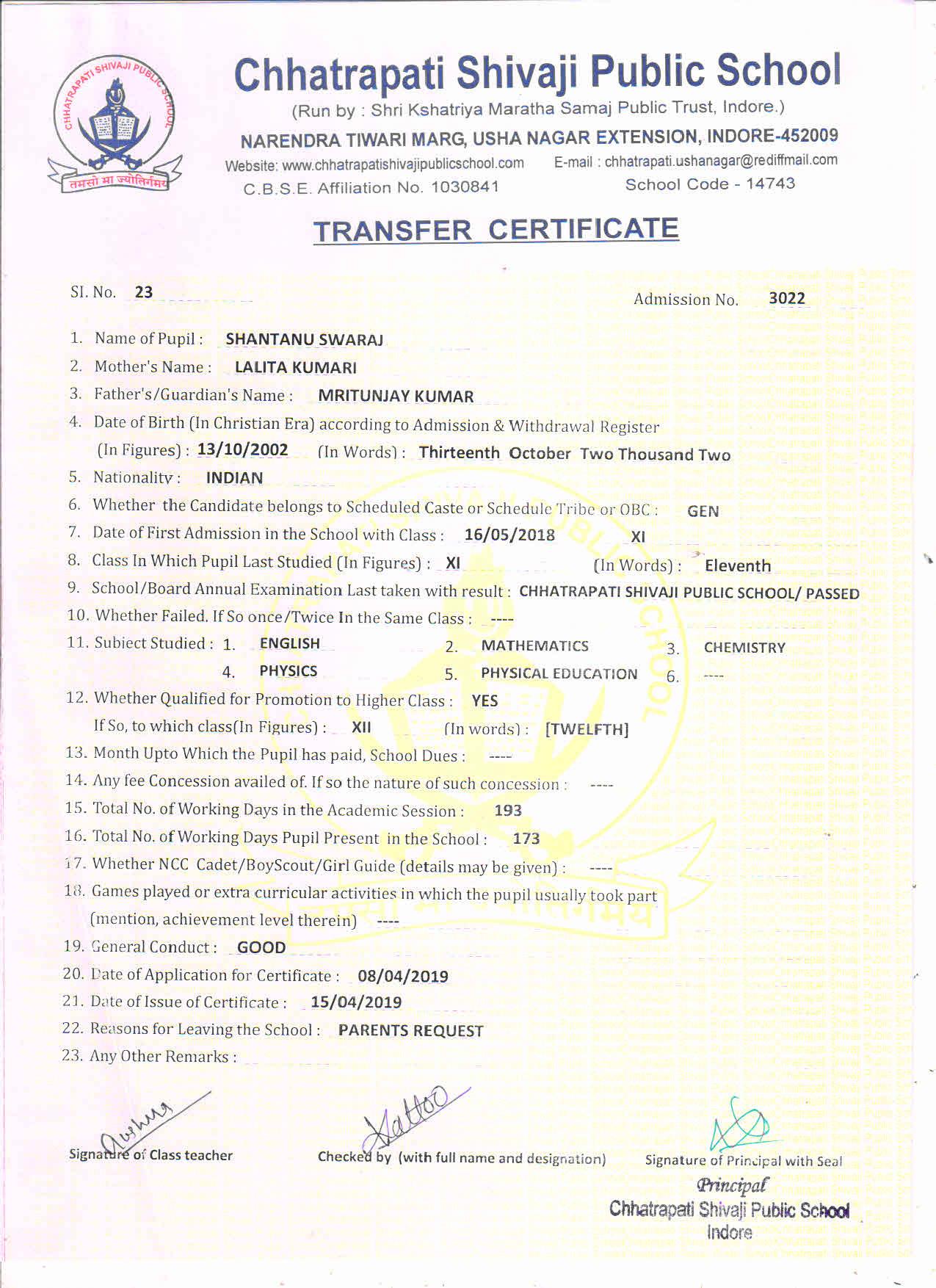 Shantanu Swaraj (TC)