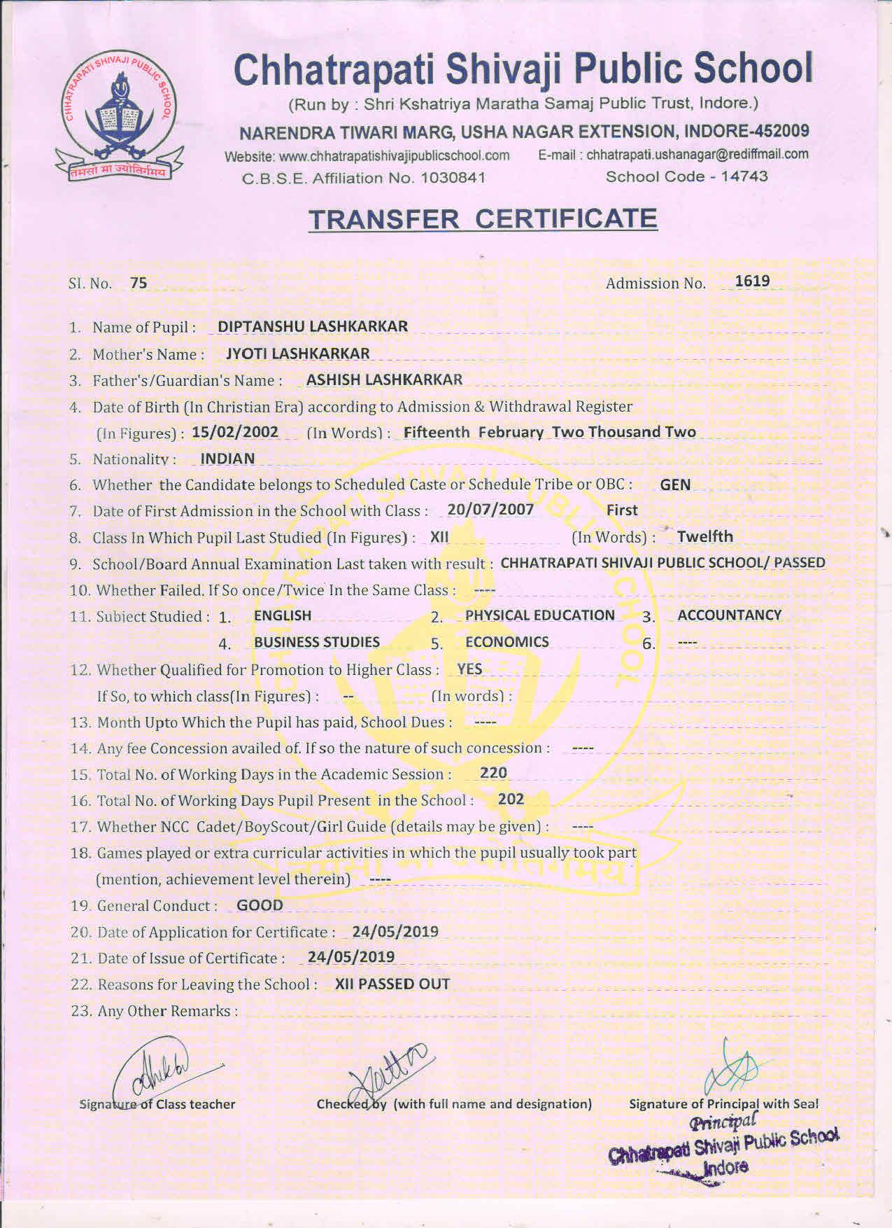 Diptanshu Lashkarkar (TC)