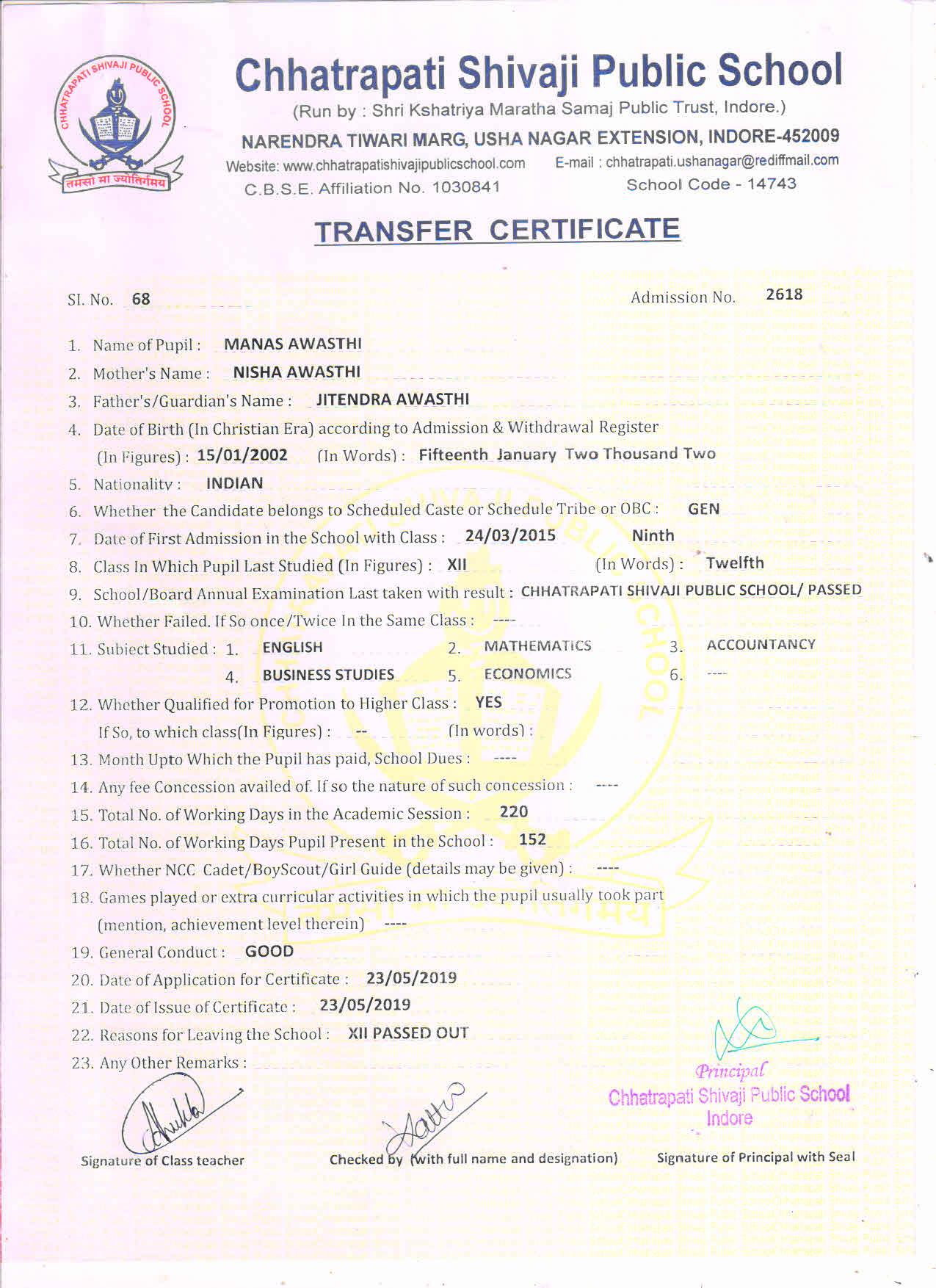 Manas Awasthi (TC)