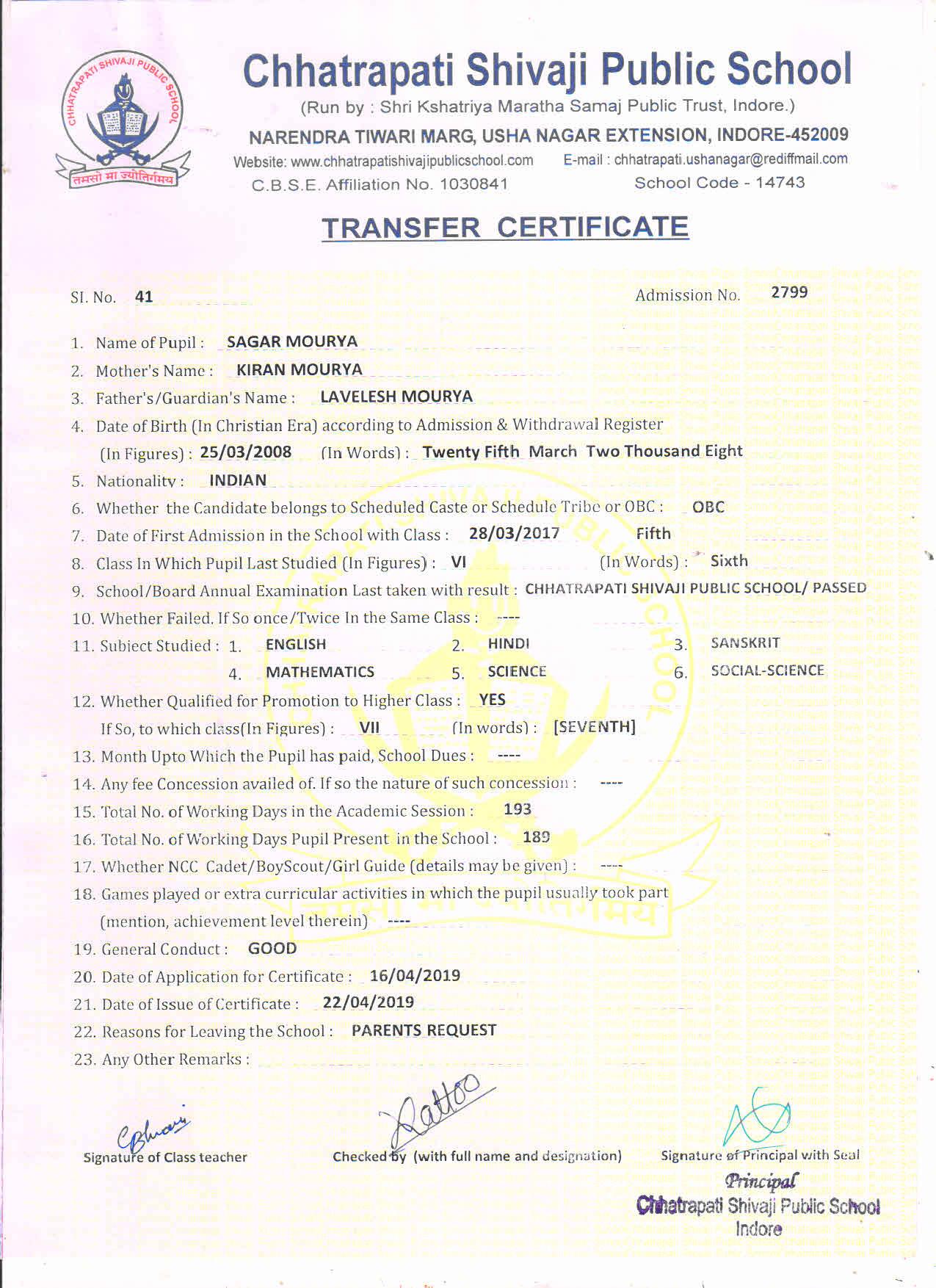 Sagar Mourya (TC)
