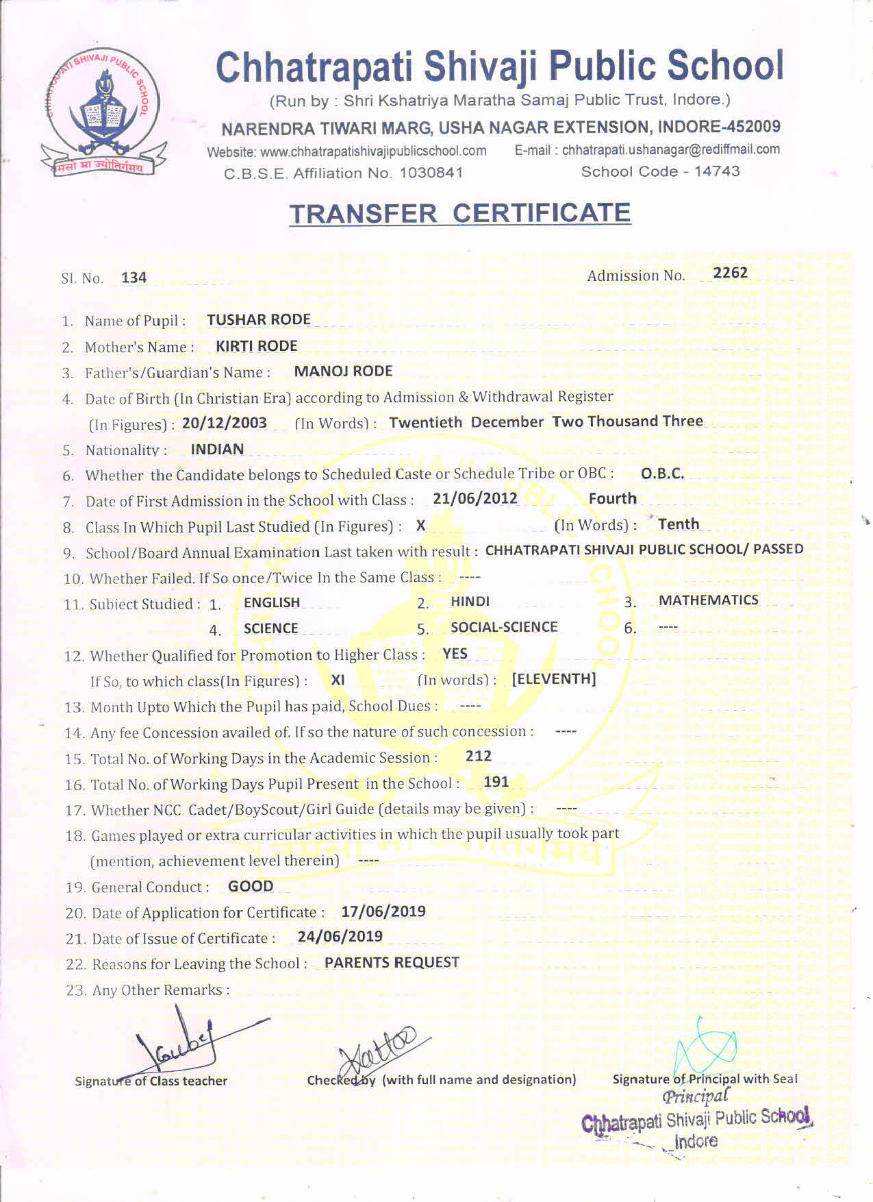 Tushar Rode (TC)
