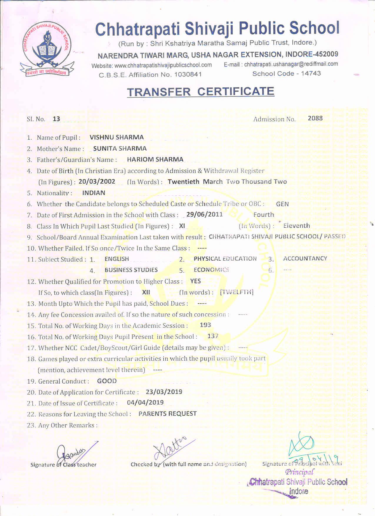 Vishnu Sharma (TC)