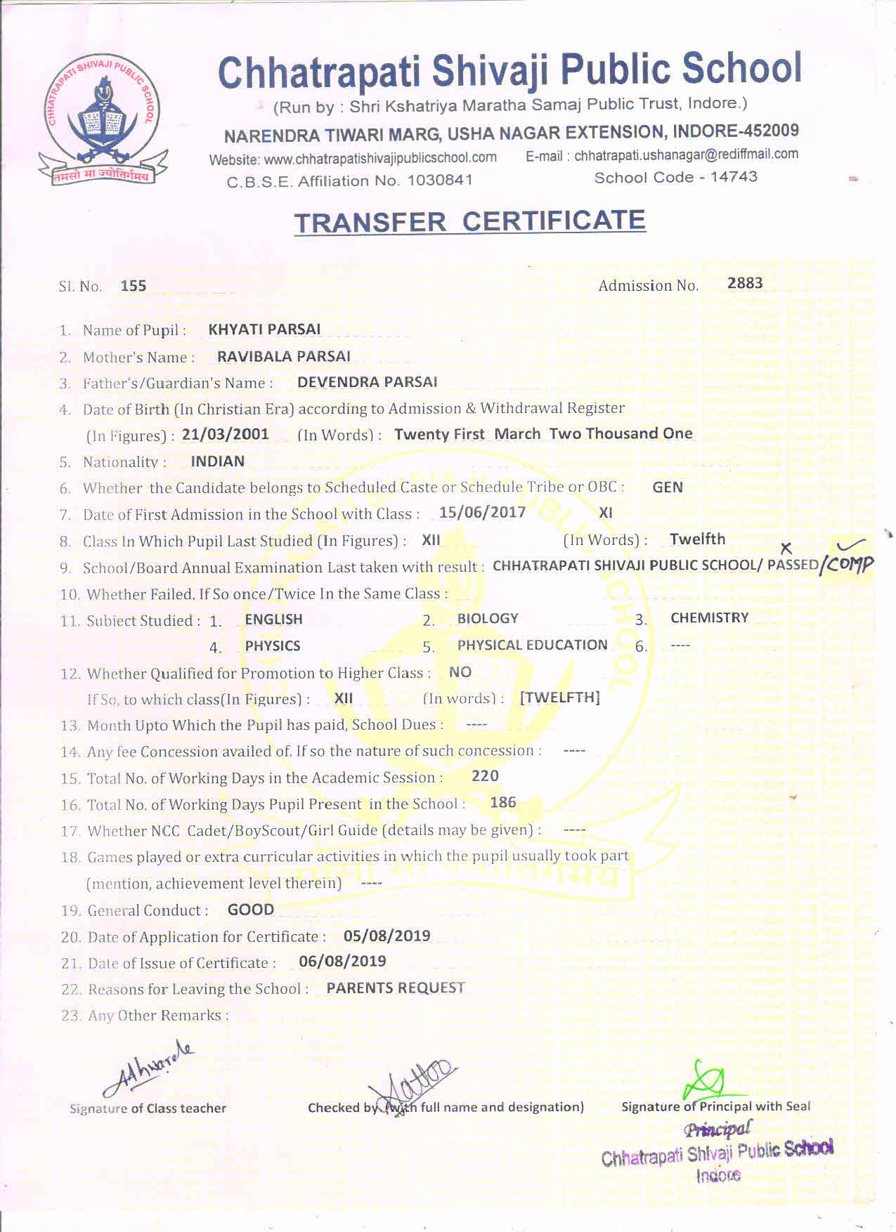 Khyati Parsai (TC) - COMP