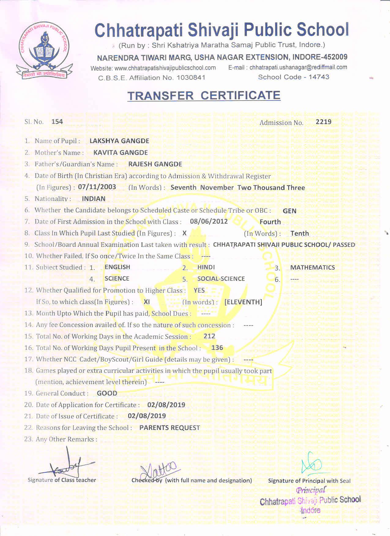Lakshya Gangde (TC)