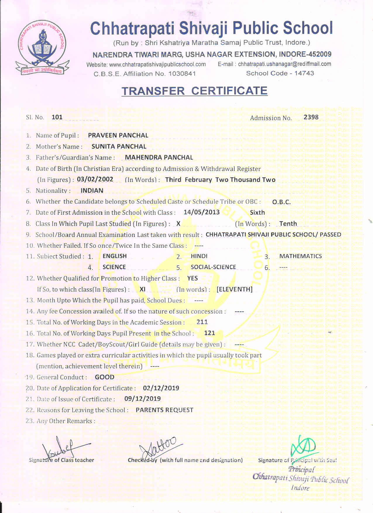 Praveen Panchal (TC)