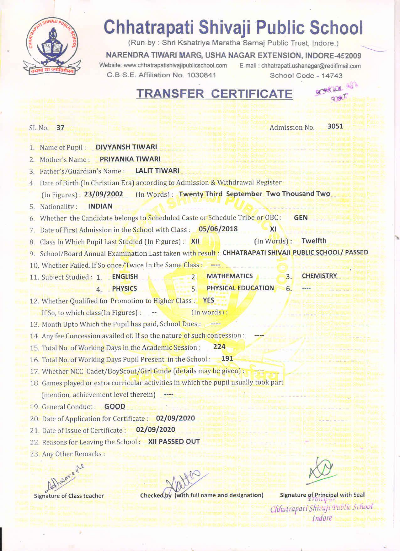 Divyansh Tiwari (TC)
